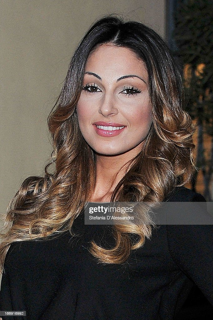 Anna Tatangelo ttends Vanity Fair & Smash Box at Spazio Krizia on April 18, 2013 in Milan, Italy.