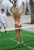 Anna Taverner during Sega's Virtua Tennis 3 Launch Photocall at Queens Walk in London Great Britain