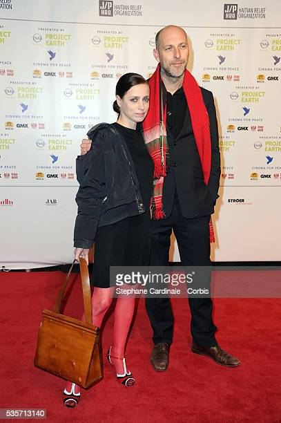 Anna Thalbach and guest attend the Cinema for Peace Gala at the Konzerthaus Am Gendarmenmark during the 61st Berlin International Film Festival