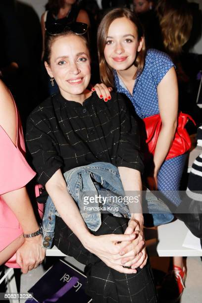 Anna Thalbach and her daughter Nellie Thalbach attend the Laurel show during the MercedesBenz Fashion Week Berlin Spring/Summer 2018 at Kaufhaus...