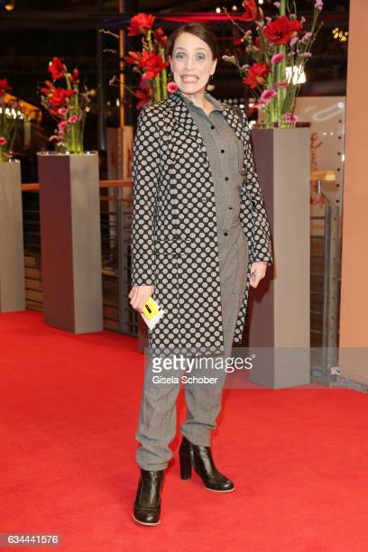 Anna Thalbach attends the 'Django' premiere during the 67th Berlinale International Film Festival Berlin at Berlinale Palace on February 9 2017 in...