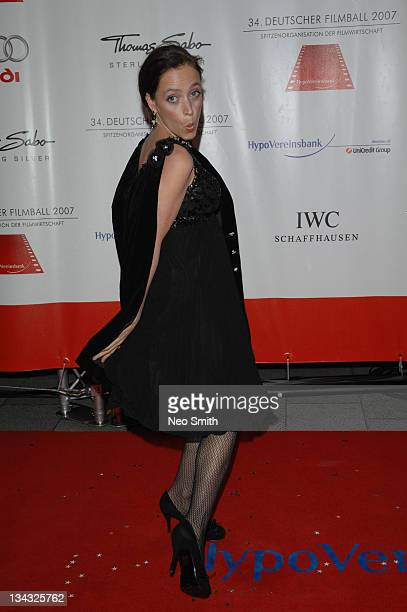 Anna Thalbach during Deutscher Filmball 2007 Red Carpet at Hotel Bayerischer Hof in Munich Bayern Germany