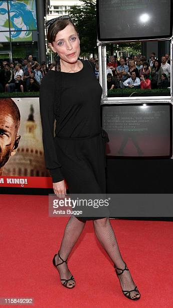 Anna Thalbach during 'Live Free or Die Hard' Berlin Premiere Arrivals at CineStar Movie Theatre in Berlin Berlin Germany