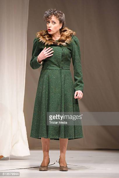 Anna Thalbach performs at the 'Die Glasmenagerie' Rehearsal on March 3 2016 in Berlin Germany