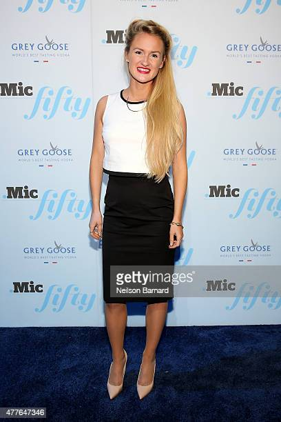 Anna Therese Day attends GREY GOOSE Vodka Hosts The Inaugural Mic50 Awards at Marquee on June 18 2015 in New York City