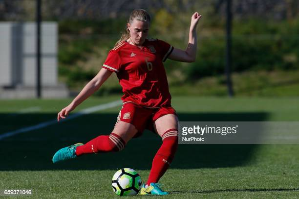 Anna Torrod of Spain during the UEFA U17 Women's Championship Qualifier match between Spain and Portugal at Cidade do Futebol stadium on March 28...