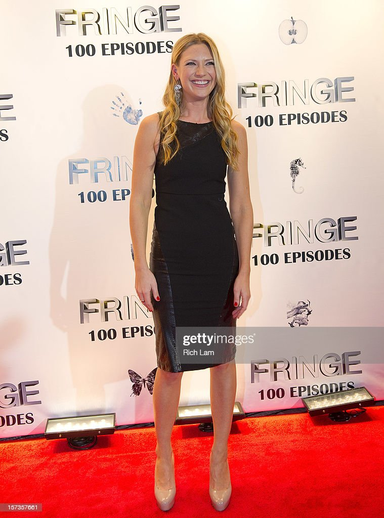 Anna Torv poses for a photo while attending 'Fringe' celebrates 100 episodes and final season at Fairmont Pacific Rim on December 1, 2012 in Vancouver, Canada.