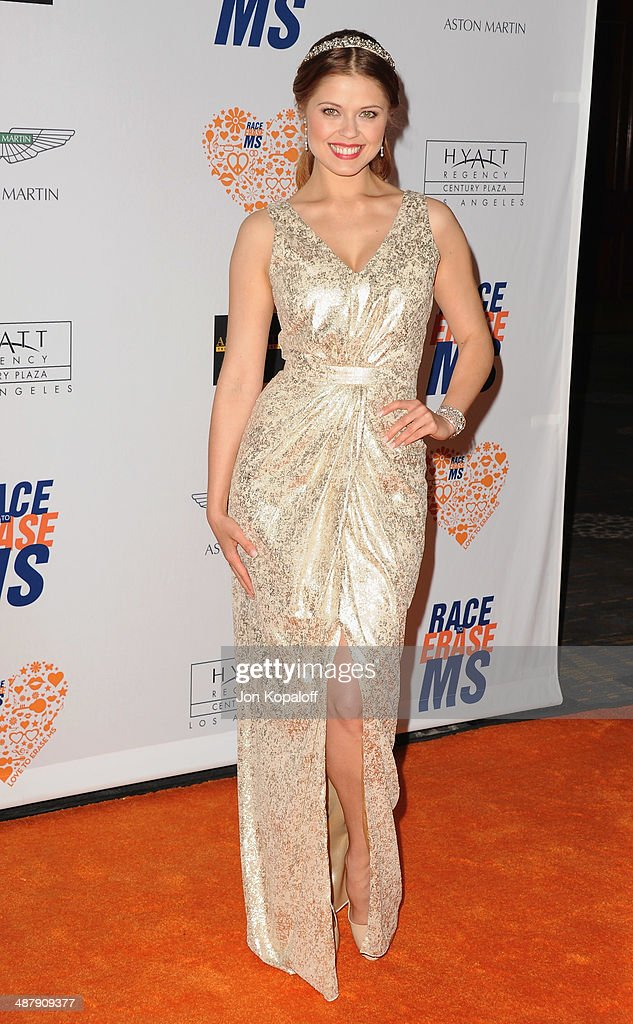 Anna Trebunskaya arrives at the 21st Annual Race To Erase MS Gala at the Hyatt Regency Century Plaza on May 2, 2014 in Century City, California.