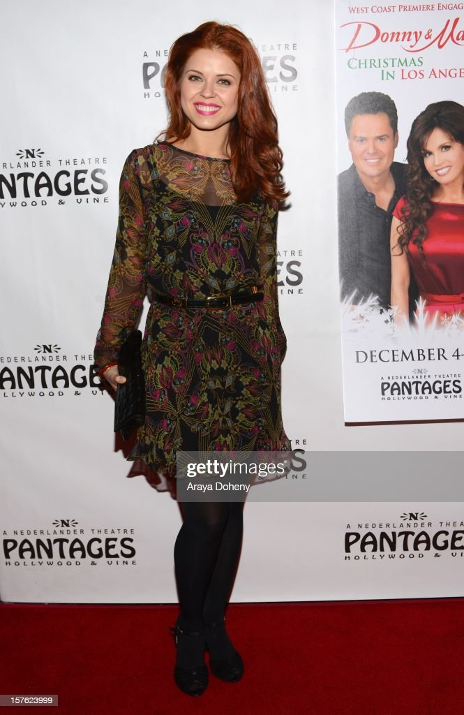 Anna Trebunskaya arrives at the 'Donny & Marie Christmas In Los Angeles' - Opening Night Performance at the Pantages Theatre on December 4, 2012 in Hollywood, California.