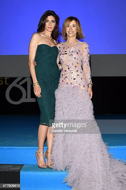 Anna Valle and Silvia Grilli attend Day 8 of the 61st Taormina Film Fest on June 20 2015 in Taormina Italy