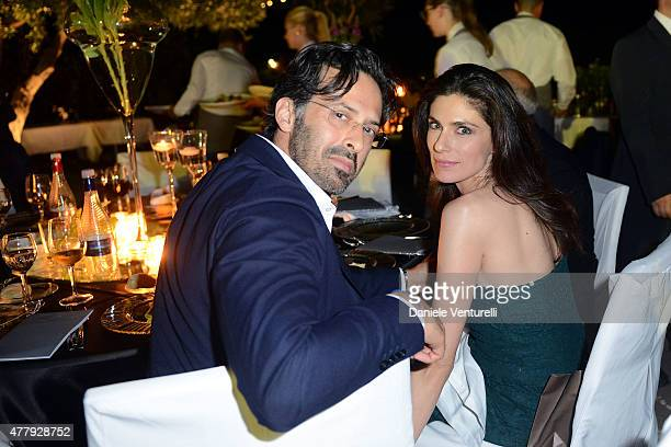 Anna Valle and Ulisse Lendaro attend the Baume Mercier and Grazia Gala Dinner 61st Taormina Film Fest on June 20 2015 in Taormina Italy