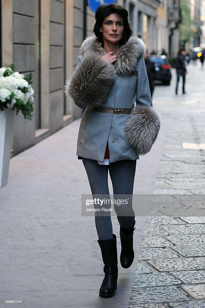 Anna Valle is seen on November 8, 2012 in Milan, Italy.