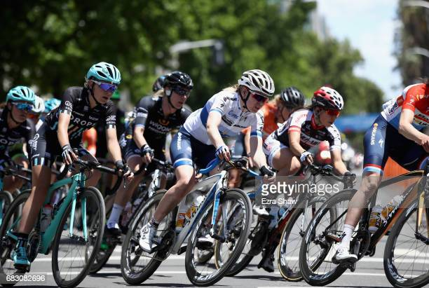 Anna Van Der Breggen of the Netherlands riding for BoelsDolmans Cycling Team rides in the peloton during stage 4 of the Amgen Breakaway From Heart...