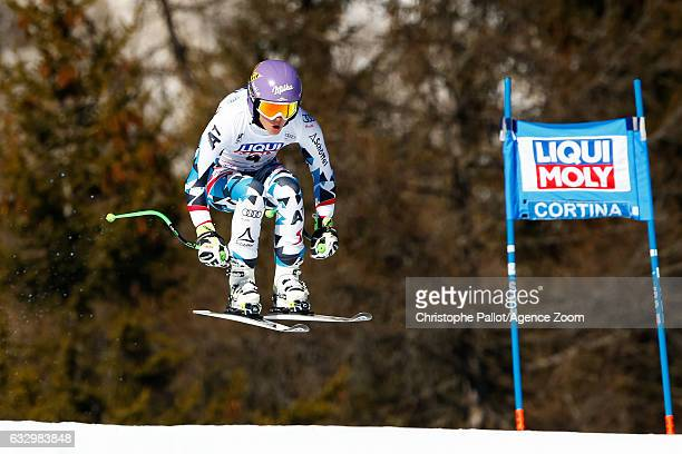 Anna Veith of Austria competes during the Audi FIS Alpine Ski World Cup Women's SuperG on January 29 2017 in Cortina d'Ampezzo Italy