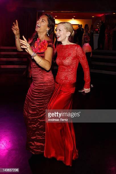 Anna von Griesheim and Tamara Graefin von Nayhauss attend the Duftstars Awards 2012 at Tempodrom on May 4 2012 in Berlin Germany