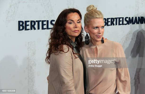Anna von Griesheim and Tamara Nayhauss attend the Bertelsmann Summer Party at the Bertelsmann representative office on September 10 2014 in Berlin...