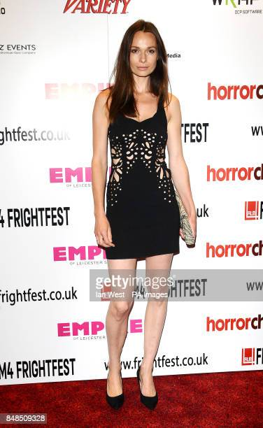 Anna Walton arrives at the screening of The Seasoning House as part of the Film 4 Frightfest season at the Empire Cinema in London