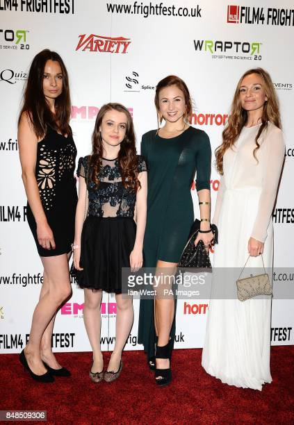 Anna Walton Rosie Day Dominique ProvostChalkley and Jemma Powell arrive at the screening of The Seasoning House as part of the Film 4 Frightfest...