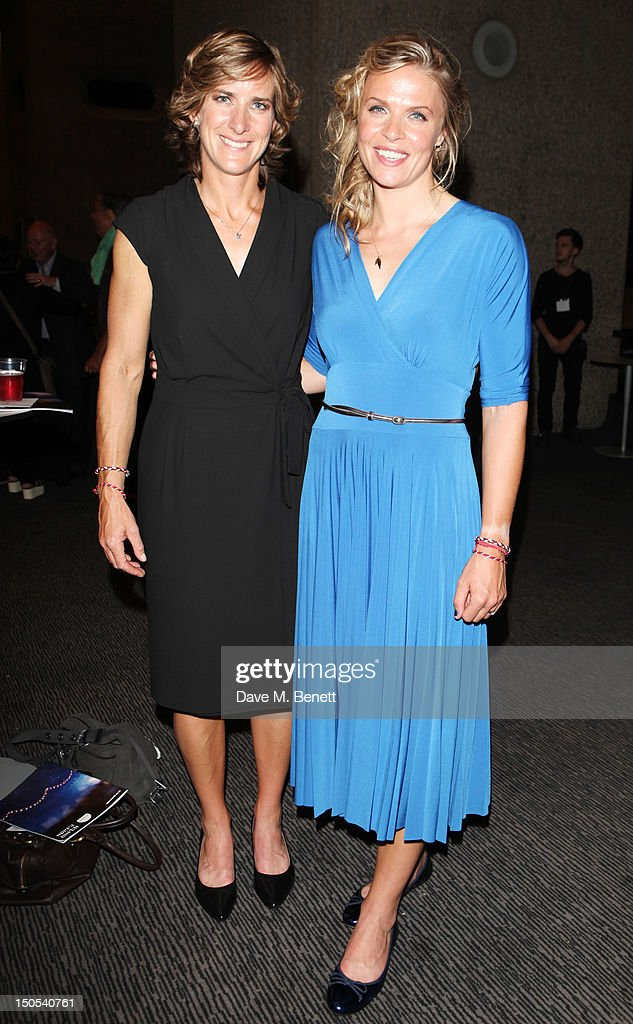 <a gi-track='captionPersonalityLinkClicked' href=/galleries/search?phrase=Anna+Watkins&family=editorial&specificpeople=7026388 ng-click='$event.stopPropagation()'>Anna Watkins</a> and Katherine Garnger (L) attend the 'Carousel - Press Night - Curtain Call' at Barbican Theatre on August 20, 2012 in London, England.