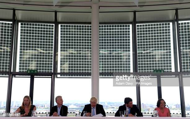 Anna Watkins of Team GB Commercial Secretary to the Treasury and former LOCOG CEO Lord Paul Deighton Mayor of London Boris Johnson Minister of Sport...