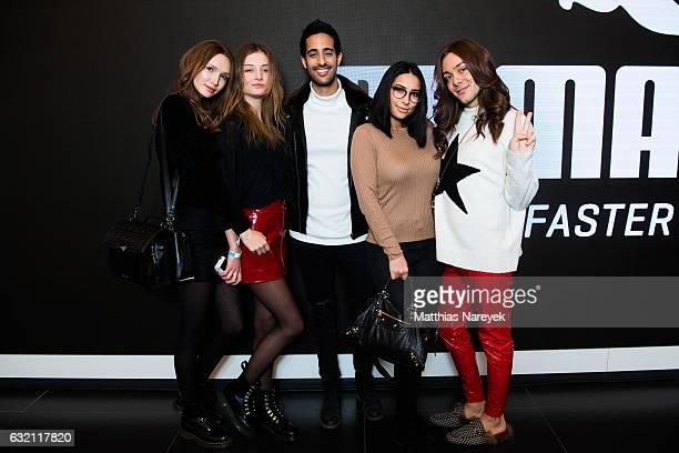 Anna Wilken Julia Wulff Sami Slimani Lamiya Slimani and Riccardo Simonnetti attend the 'LECK MICH AM HASHTAG' brunch during MercedesBenz Fashion Week...