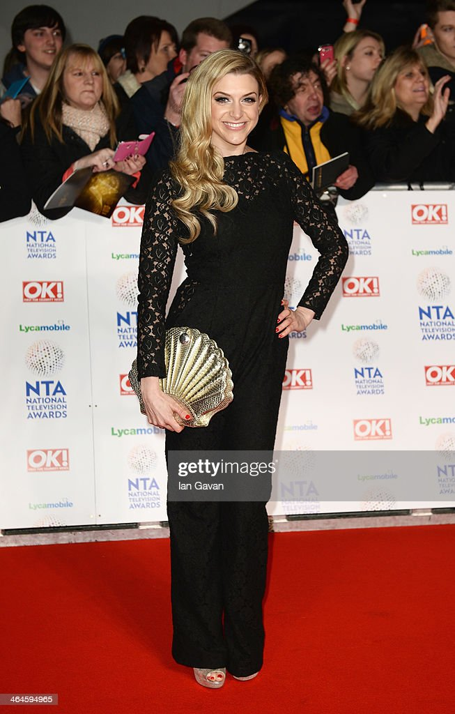 Anna Williamson attends the National Television Awards at 02 Arena on January 22, 2014 in London, England.