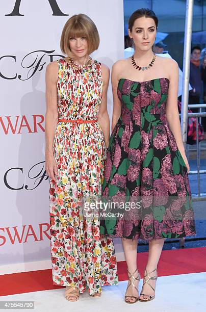 Anna Wintour and Bea Schafer attend the 2015 CFDA Fashion Awards at Alice Tully Hall at Lincoln Center on June 1 2015 in New York City