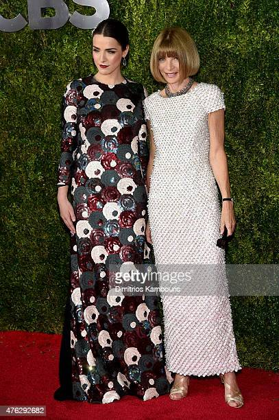 Anna Wintour and Bee Shaffer attend the 2015 Tony Awards at Radio City Music Hall on June 7 2015 in New York City