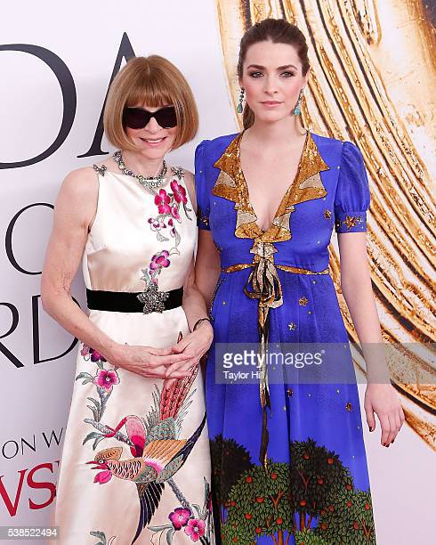 Anna Wintour and Bee Shaffer attend the 2016 CFDA Fashion Awards at the Hammerstein Ballroom on June 6 2016 in New York City