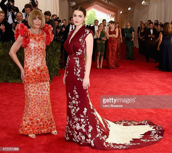 Anna Wintour and Bee Shaffer attend the 'China Through The Looking Glass' Costume Institute Benefit Gala at the Metropolitan Museum of Art on May 4...