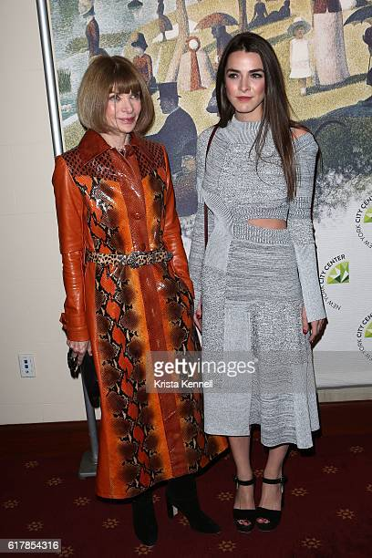 Anna Wintour and Bee Shaffer attend the New York City Center Gala at New York City Center on October 24 2016 in New York City
