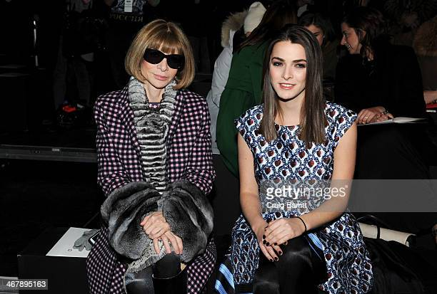 Anna Wintour and Bee Shaffer attend the Prabal Gurung Gurung fashion show during MercedesBenz Fashion Week Fall 2014 at Skylight at Moynihan Station...