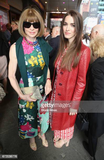 Anna Wintour and Bee Shaffer pose at the opening night of the new musical 'Charlie and The Chocolate Factory' on Broadway at The LuntFontanne Theatre...