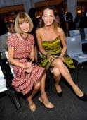 Anna Wintour and Blake Lively attends Fashion's Night Out The Show at Lincoln Center on September 7 2010 in New York City