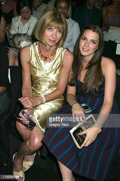 Anna Wintour and daughter Bee Shaffer during Olympus Fashion Week Spring 2006 BCBG Max Azria Front Row and Backstage at Bryant Park in New York City...