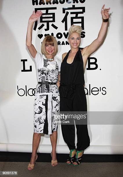 Anna Wintour and Gwen Stefani attend Bloomingdale's celebration for Fashion's Night Out at Bloomingdale's 59th Street Store on September 10 2009 in...