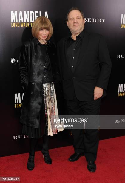 Anna Wintour and Harvey Weinstein attend U2 And Anna Wintour Host A Special Screening Of Mandela Long Walk To Freedom In Partnership With Burberry...