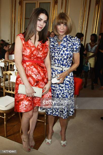 Anna Wintour and her daughter Bee Shaffer attend the Giambattista Valli HauteCouture Show as part of Paris Fashion Week Fall / Winter 2012/13 on July...