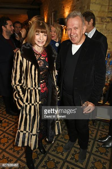 Anna Wintour and JeanPaul Gaultier attend The Fashion Awards in partnership with Swarovski nominees' lunch hosted by the British Fashion Council with...