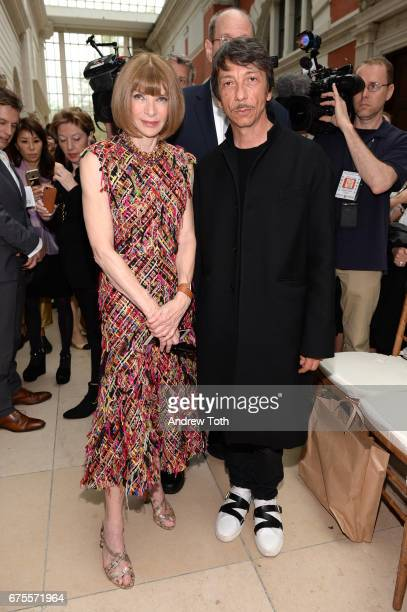 Anna Wintour and Pierpaolo Piccioli attend the 'Rei Kawakubo/Comme des Garcons Art Of The InBetween' Costume Institute Gala press preview at...