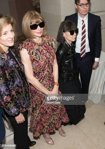 Anna Wintour and Rei Kawakubo attend the 'Rei Kawakubo/Comme des Garcons Art Of The InBetween' Costume Institute Gala press preview at Metropolitan...