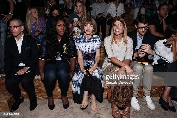 Anna Wintour and Serena Williams sit side by side at the Coach Front Row September 2016 New York Fashion Week on September 13 2016 in New York City