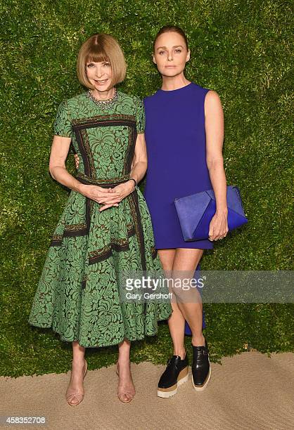 Anna Wintour and Stella McCartney attend The 11th Annual CFDA/Vogue Fashion Fund Awards at Spring Studios on November 3 2014 in New York City