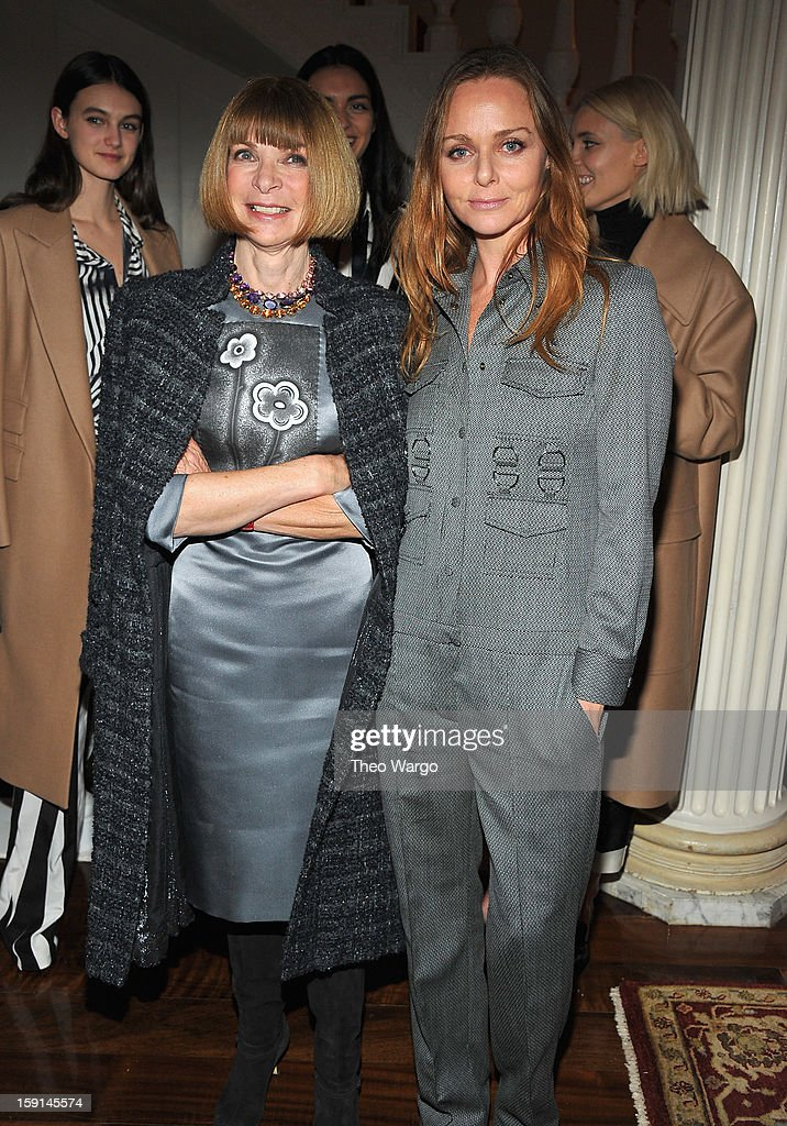 <a gi-track='captionPersonalityLinkClicked' href=/galleries/search?phrase=Anna+Wintour&family=editorial&specificpeople=202210 ng-click='$event.stopPropagation()'>Anna Wintour</a> and Stella McCartney attend the Stella McCartney Autumn 2013 Presentation at 680 Park Avenue on January 8, 2013 in New York City.