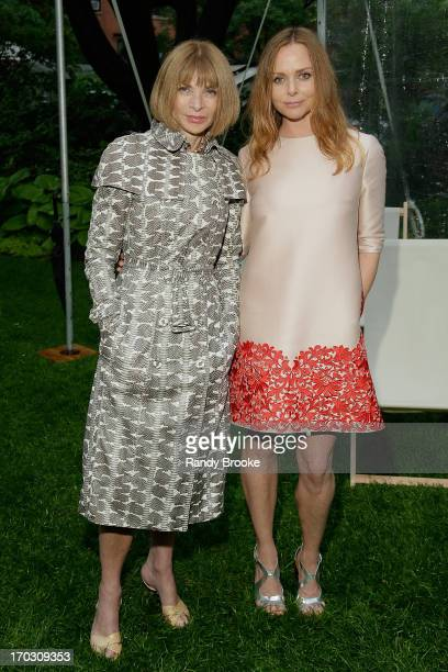 Anna Wintour and Stella McCartney attend the Stella McCartney Spring 2014 Collection Presentation at West 10th Street on June 10 2013 in New York City
