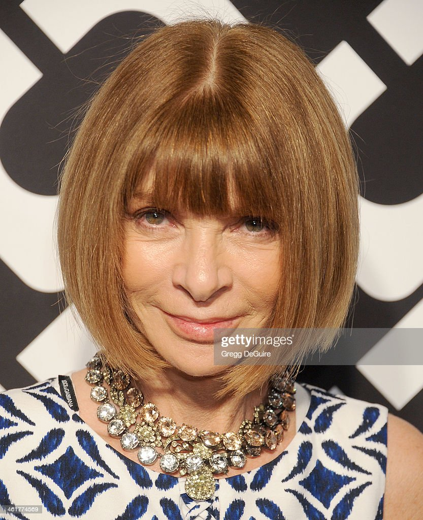 <a gi-track='captionPersonalityLinkClicked' href=/galleries/search?phrase=Anna+Wintour&family=editorial&specificpeople=202210 ng-click='$event.stopPropagation()'>Anna Wintour</a> arrives at Diane Von Furstenberg's 'Journey Of A Dress' premiere opening party at Wilshire May Company Building on January 10, 2014 in Los Angeles, California.