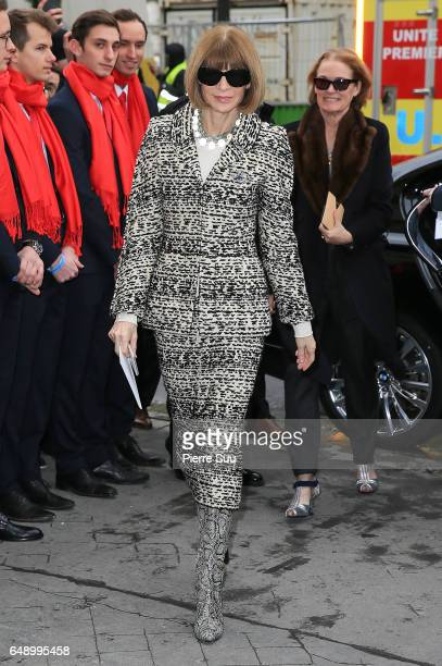 Anna Wintour arrives at the Chanel show as part of the Paris Fashion Week Womenswear Fall/Winter 2017/2018 on March 7 2017 in Paris France