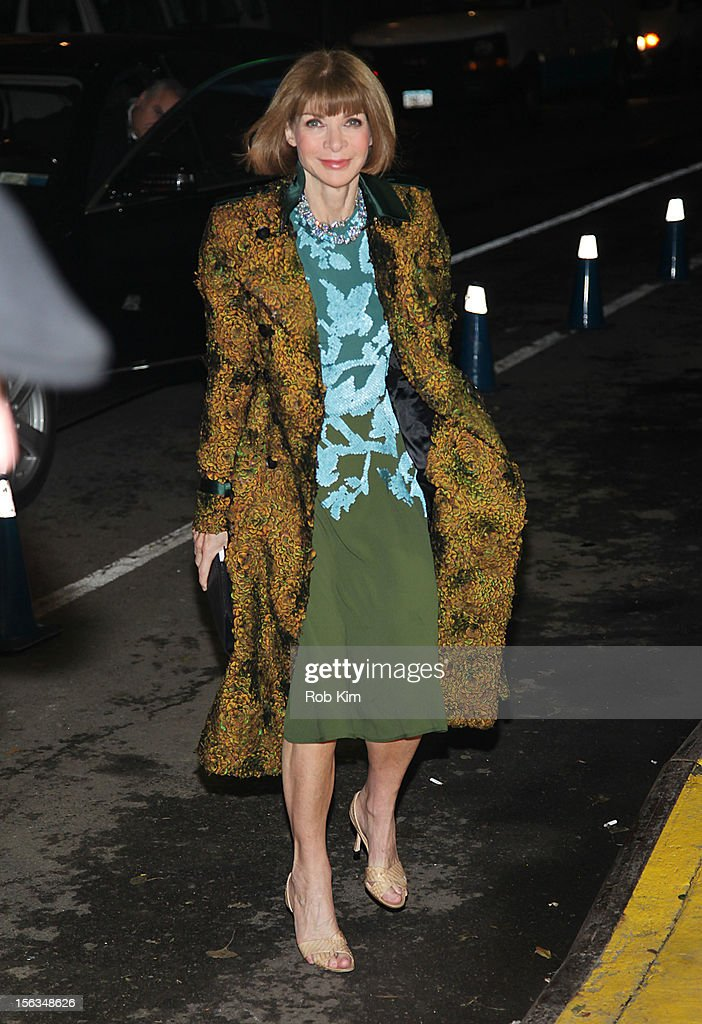 Anna Wintour arrives at The Ninth Annual CFDA/Vogue Fashion Fund Awards at 548 West 22nd Street on November 13, 2012 in New York City.