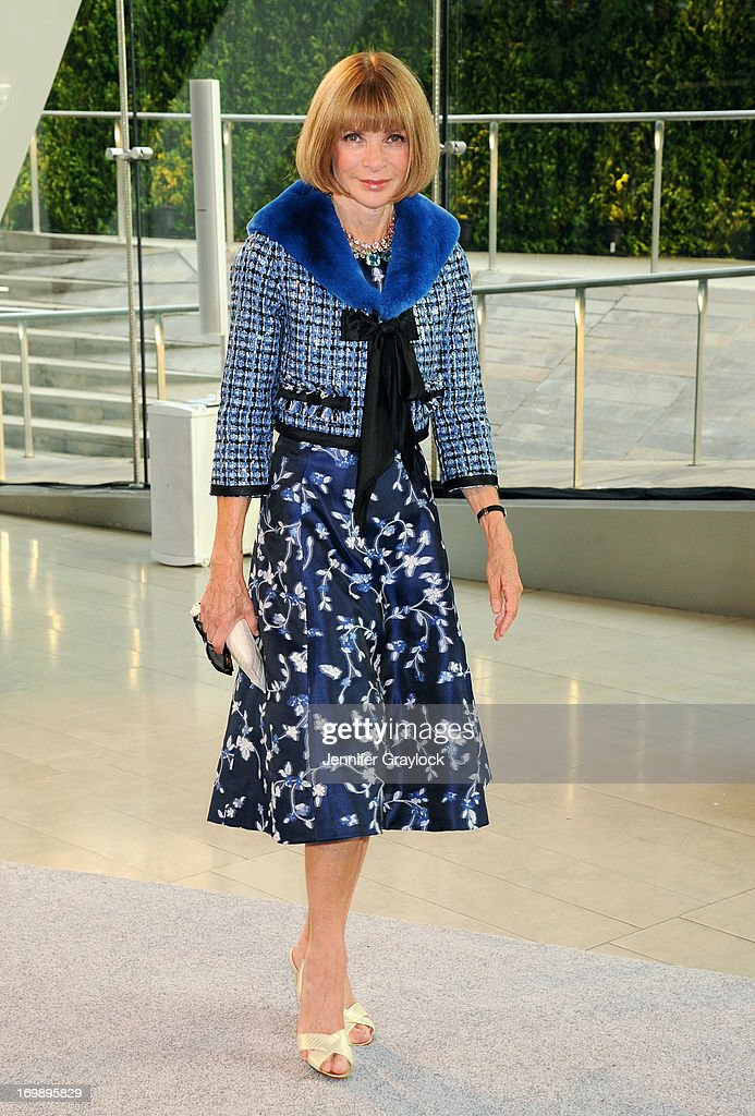 Anna Wintour attends 2013 CFDA FASHION AWARDS underwritten by Swarovski at Lincoln Center on June 3, 2013 in New York City.