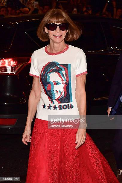 Anna Wintour attends Hillary Victory Fund Stronger Together concert at St James Theatre on October 17 2016 in New York City
